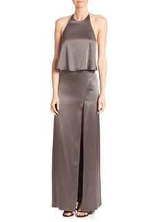 Halston Heritage Halter Slip Gown