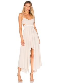 Halston Heritage Hi Low Asymmetric Dress
