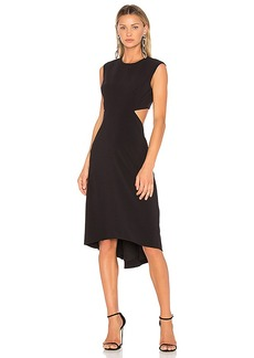 Halston Heritage High Neck Dress With Back Cut Out in Black. - size 0 (also in 2,4)