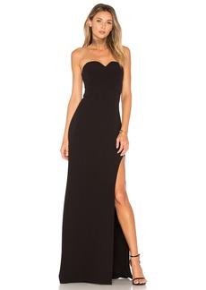 Halston Heritage High Slit Gown