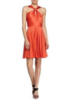 Halston Heritage Knotted-Front Dress