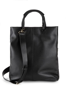 Halston Heritage Large Foldover Leather Tote Bag