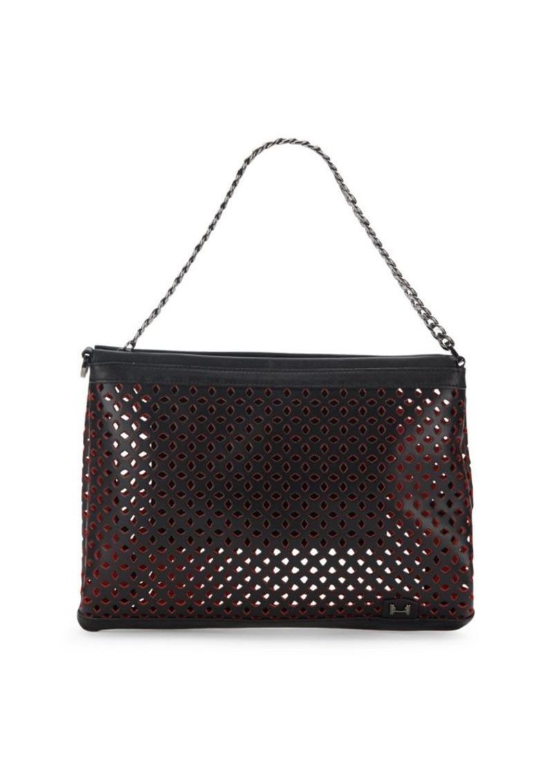 d23d6f06f302 Halston Heritage Halston Heritage Laser Cut Leather Shoulder Bag Now ...