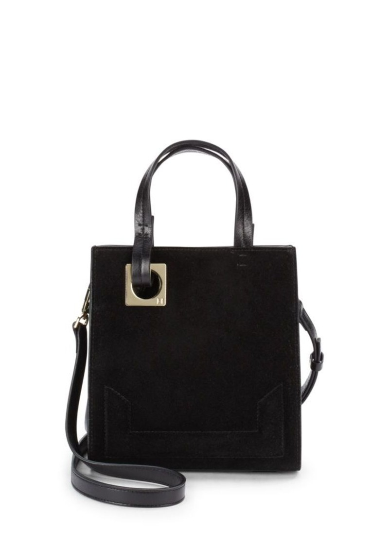 Halston Heritage Leather & Suede Tote Bag