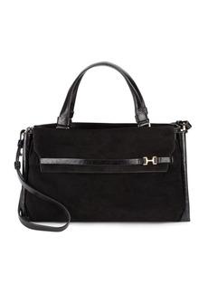 Halston Heritage Leather & Suede Shoulder Bag