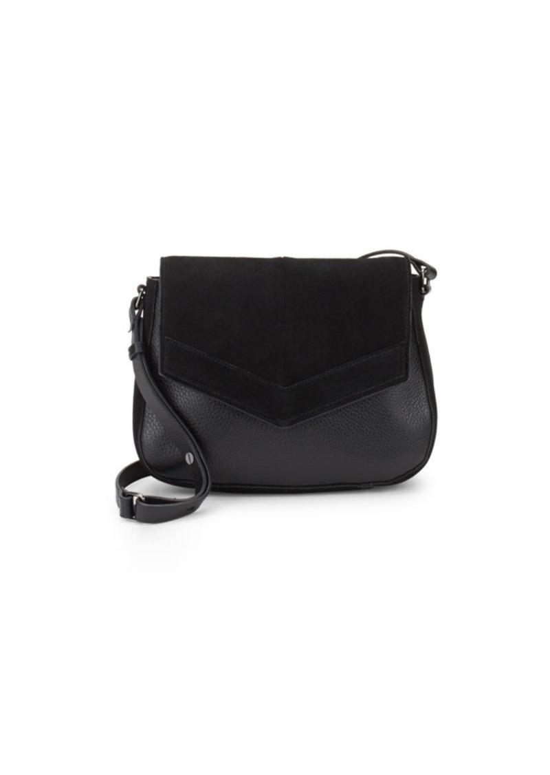 bc6ec1f65e Halston Heritage Leather   Suede Shoulder Bag