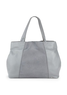 Halston Heritage Leather & Suede Tote