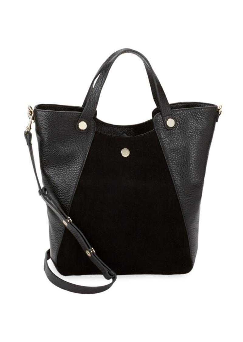 d30fd9f809 Halston Heritage Leather   Suede Tote Bag