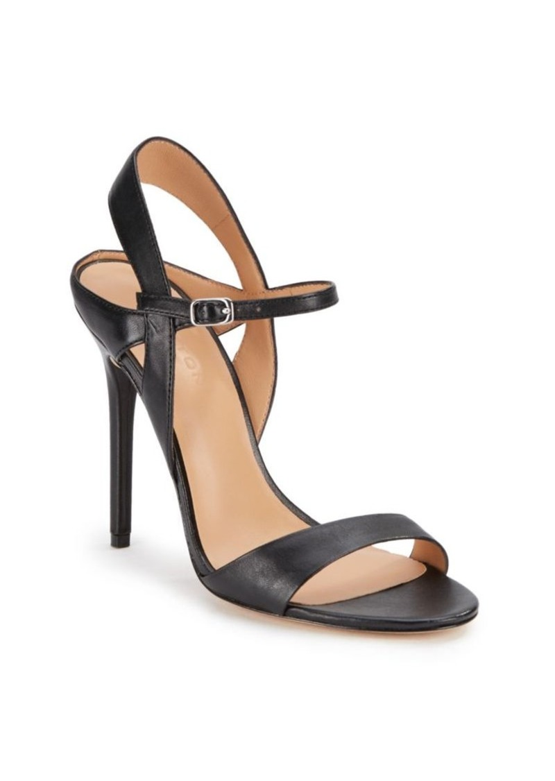 Halston Heritage Leather Ankle Strap Sandals