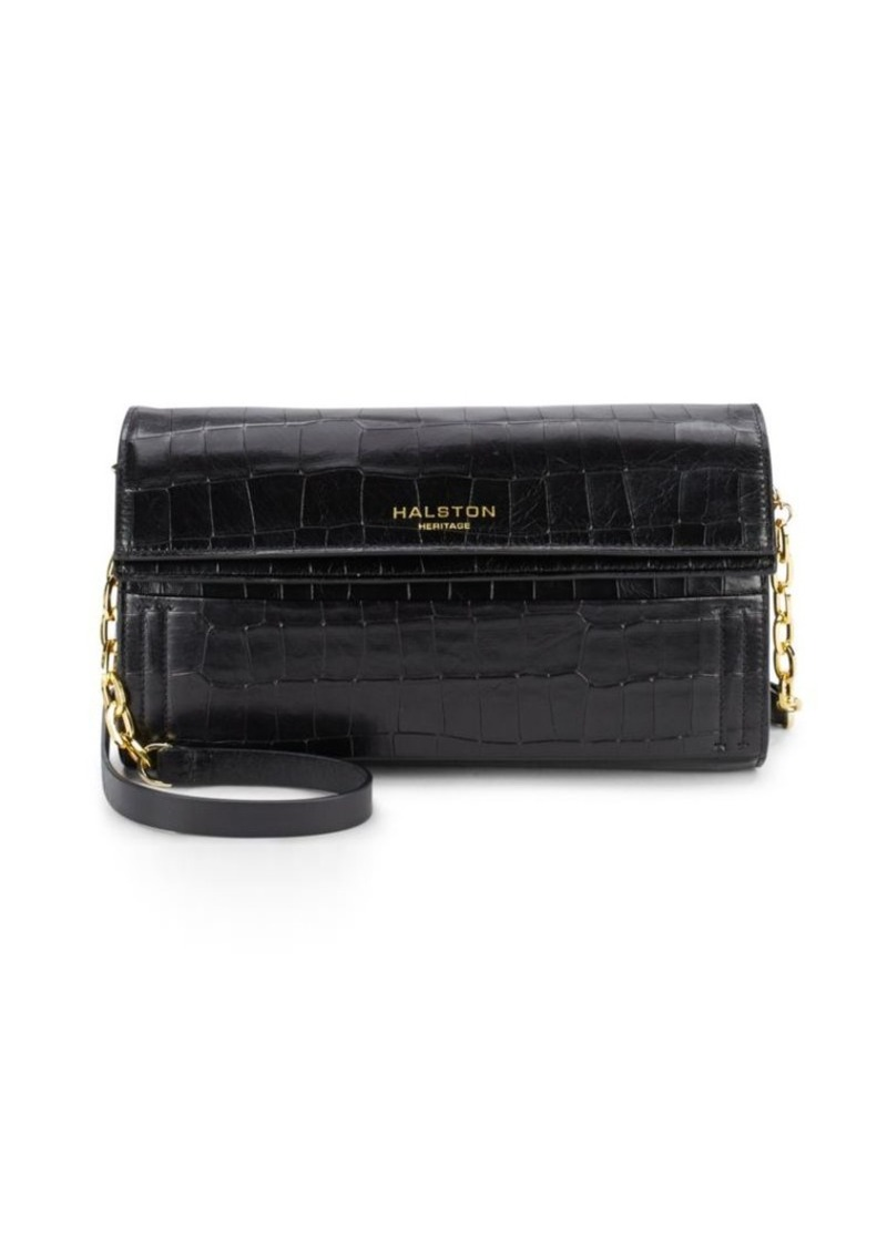 Halston Heritage Leather Convertible Crossbody Clutch