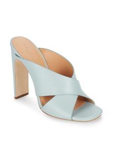 Halston Heritage Leather Crisscross Mule Sandals