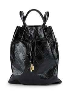 Halston Heritage Leather Drawstring Backpack