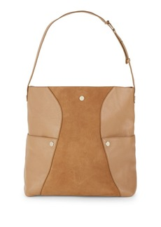 Halston Heritage Leather Hobo Shoulder Bag