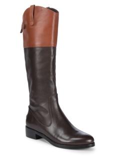 Halston Heritage Leather Knee-High Boots