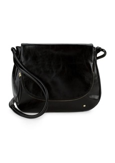 Halston Heritage Leather Saddle Bag