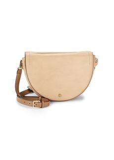 Halston Heritage Leather Saddle Bag