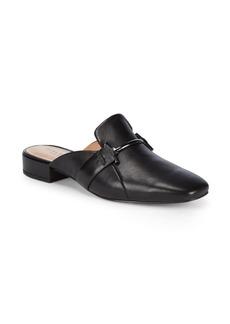 Halston Heritage Leather Slip-On Loafer Mules