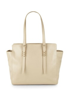 Halston Heritage Large Leather Zip Tote