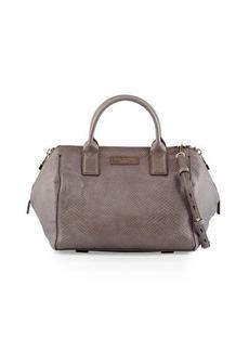 Halston Heritage Lizard-Embossed Leather Medium Satchel Bag