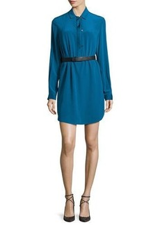 Halston Heritage Long-Sleeve Belted Shirtdress