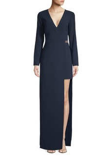 Halston Heritage Long-Sleeve Column Gown