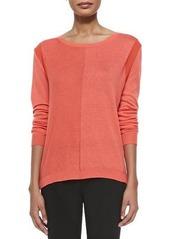 Halston Heritage Long-Sleeve Draped Back Sweater