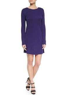 Halston Heritage Long-Sleeve Jersey Dress w/ Keyhole