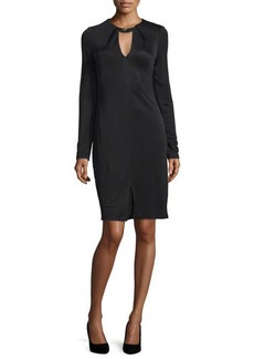 Halston Heritage Long-Sleeve Sheath Dress