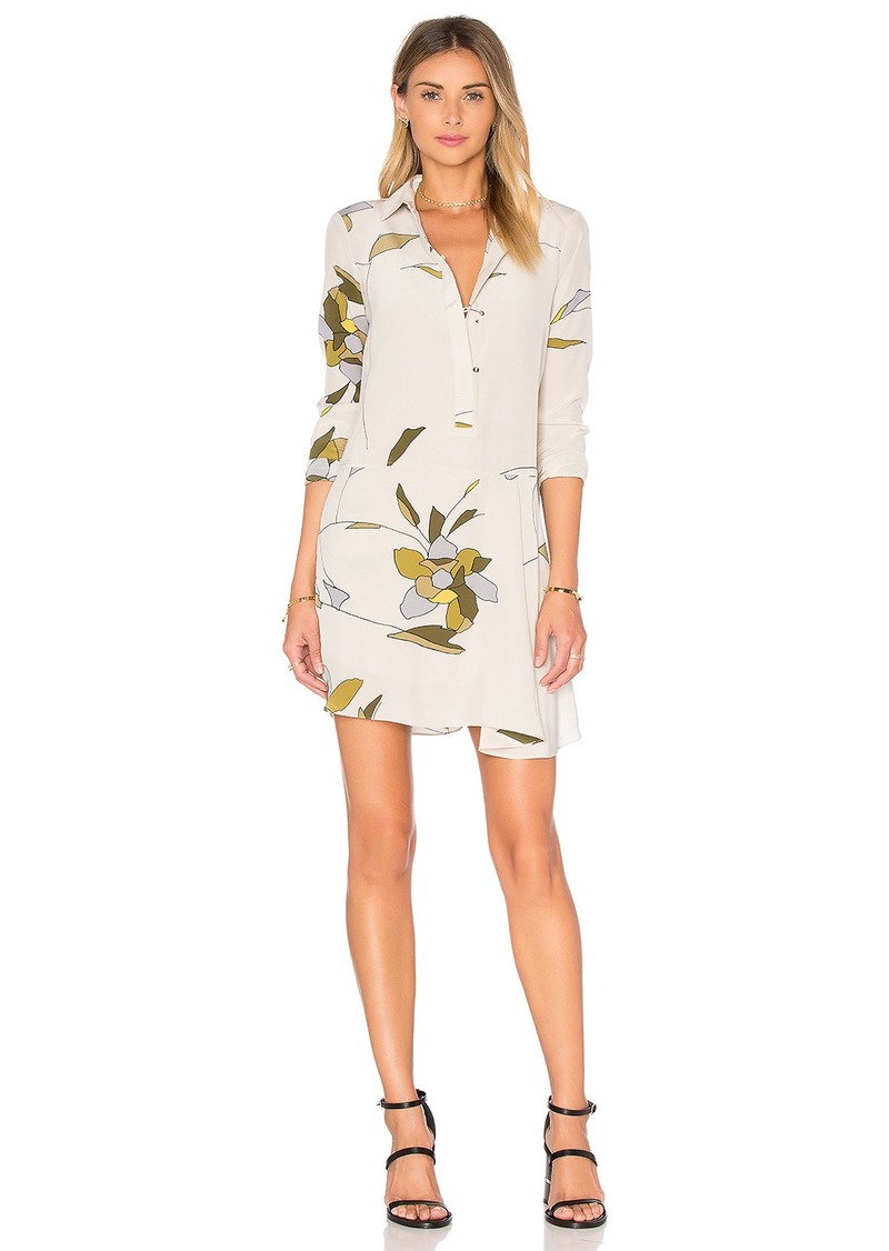 Halston Heritage Long Sleeve Shirt Dress