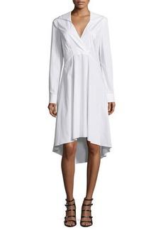 Halston Heritage Long-Sleeve V-Neck Shirtdress