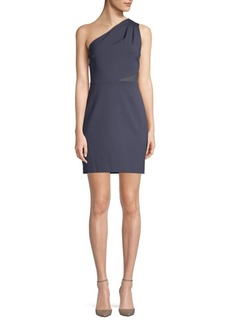 Halston Heritage Mesh-Paneled Sheath Dress
