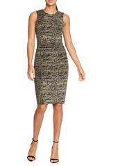 Halston Heritage Metallic Jersey Midi Dress