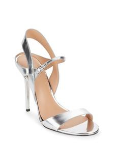 Halston Heritage Metallic Leather Ankle-Strap Sandals