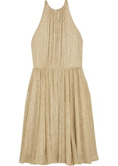 Halston Heritage Metallic Lurex mini dress