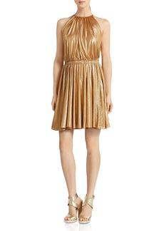 HALSTON HERITAGE Metallic Mini Dress