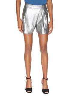 HALSTON HERITAGE Metallic Suede Shorts