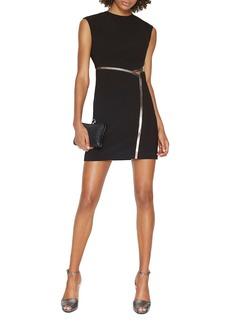 HALSTON HERITAGE Metallic-Trim Cutout Dress