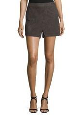 Halston Heritage Mid-Rise Slim-Leg Skort