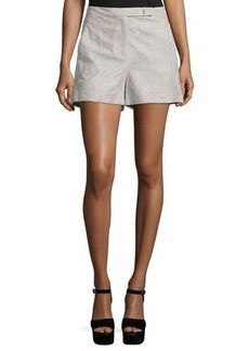 Halston Heritage Mid-Rise Structured Shorts