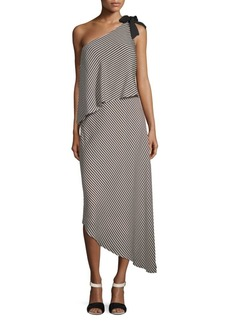Halston Heritage Mini Stripe Flowy Dress