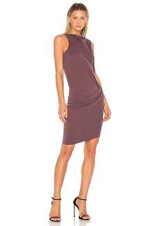 Halston Heritage Mock Neck Draped Dress in Purple. - size 0 (also in 2,6)