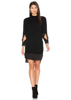 Halston Heritage Mock Neck Sweater Dress