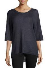 Halston Heritage Mohair Half-Sleeve Sweater