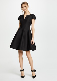Halston Heritage Notch Neck Tulip Dress