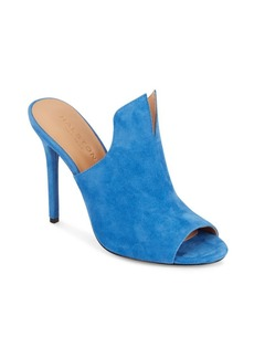 Halston Heritage Notched Suede Mules