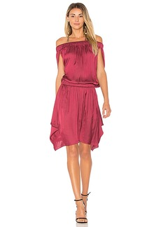 Halston Heritage Off Shoulder Flowy Dress in Burgundy. - size L (also in M,S,XS)