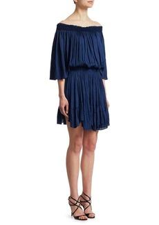 Halston Heritage Off-The-Shoulder Dress
