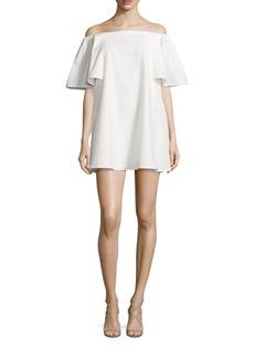 Halston Heritage Off-The-Shoulder Jacquard Dress