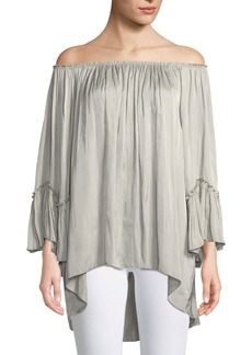 Halston Heritage Off-the-Shoulder Ruched Blouse