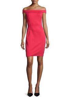 Halston Heritage Off-The-Shoulder Sheath Dress